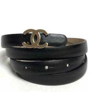 Chanel CC Leather Belt